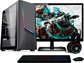 "PC Gamer Completo AMD Ryzen 3 (Placa de vídeo Radeon VEGA 8) Monitor 21.5"" Full HD 8GB DDR4 HD 1TB 500W Skill Cool"