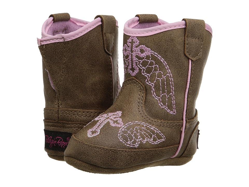 M&F Western Kids Baby Bucker Gracie (Infant/Toddler) (Brown/Pink) Cowboy Boots