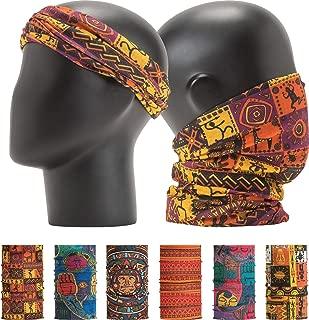 Pattern Bold Headwear Scarf Boho Headband Wrap Shield Neck Gaiter Bandana