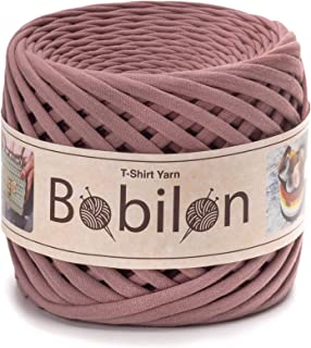 T-Shirt Yarn Fettuccini Zpagetti Style - Tshirt Yarn for Crocheting - Ribbon Yarn 100% Cotton - Knitting Yarn Ball - T Yarn Organic - Macrame T-Yarn - Thick Fabric Yarn - Jersey Yarn Lilac