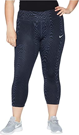 Nike Power Essential Crop Print (Size 1X-3X)