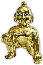 VRINDAVANBAZAAR.COM Brass Gopal Laddoo/Baby Krishna/Laddu Kishan Baby Krishna Thakurji Murti Idol Statue Sculpture Size 1;...