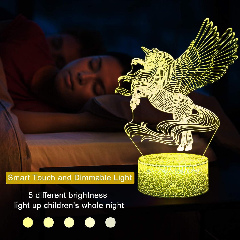 Juguetes Unicornio para Ni/ña 16 Colores Cambiantes L/ámpara Noche con Mando a Distancia 0072 Unicornio Luz Noche para Ni/ños
