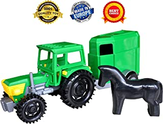 Toy trucks - Kids toys – Construction toys - Farm toys tractor trailer for boys toddlers – Tractor toys - toys vehicles - Tractor car farm toy for toddler - Farm yard baby toys - Farm tractor trailer