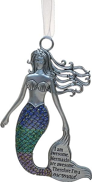Gnz 3 5 Inch Zinc Mermazing Mermaid Ornament I Am Awesome