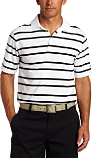 Nike Golf Men's Drifit UV Ultra Stripe Polo (White/Black, Medium)