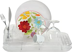 Better Houseware Crystal-Clear Dish Rack Set, Large
