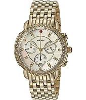 Michele - Sidney Diamond Bezel Gold Plated Stainless Steel Watch