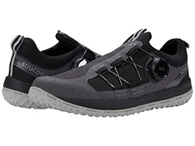Saucony Kids S-Switchback 2.0 (Little Kid/Big Kid) (Black/Charcoal) Boys Shoes
