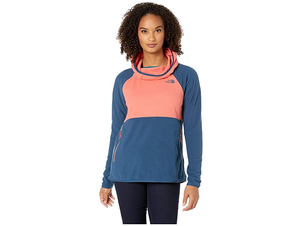 The North Face Glacier Alpine Pullover (Spiced Coral/Blue Wing Teal) Women