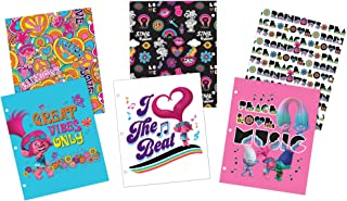 Avery DreamWorks Trolls Two-Pocket Folders, 3-Hole Punched, 100-Sheet Capacity, 3 Designs, 6 Folders (47933)