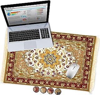 Oriental Rug Large Desk Mouse Pad Desktop Mat, Fun Home Office Desk Decor, Carpet Style Persian Mousepad, XL Extended Lapt...