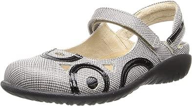 Naot Women's Rongo Mary Jane Flat,Sashet Leather/Black Patent Leather,35 EU/4 M US