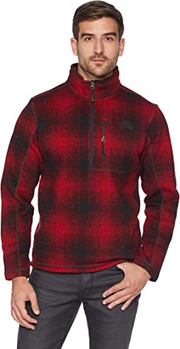 Rage Red Ombre Plaid Print
