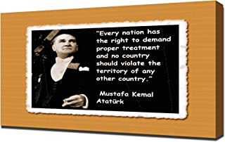 Mustafa Kemal Ataturk Quotes 2 - Canvas Art Print