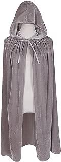 Kids Hooded Velvet Cloak Halloween Christmas Fancy Cape for Kids