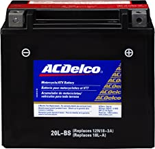 ACDelco ATX20LBS Specialty AGM Powersports JIS 20L-BS Battery