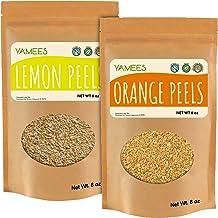 Yamees Lemon Peel and Orange Peel - 2 Pack of 8 oz Each - Lemon & Orange Peel Granules - Bulk Spices and Seasonings