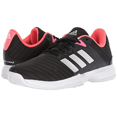adidas Barricade Court 2 (Black/Matte Silver/Flash Red) Women