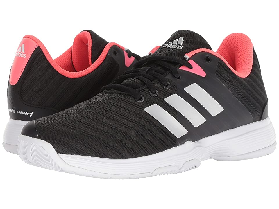 low priced 4d44f 0034d adidas Barricade Court 2 (Black Matte Silver Flash Red) Women s Shoes