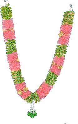Daedal crafters Artificial Roses with Garland (Pink)
