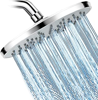WarmSpray Shower Head High Pressure Rainfall Shower Head- 9'' Luxury Chrome Engineering ABS Rain Shower Heads- For the Amazing Rainfall Spray Shower Relaxation