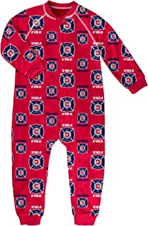 MLS by Outerstuff Toddler Sleepwear Zip Up Coverall, Red, 2T, Chicago Fire