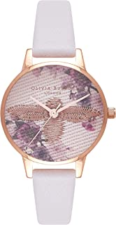 Olivia Burton Womens Quartz Watch, Analog Display and Leather Strap OB16EM06
