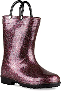 Lilly of New York Children's Glitter Rain Boots for Little Kids & Toddlers, Boys & Girls (11 Little Kid, Multi Glitter)