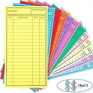 New!! 24 Pcs Budget Envelopes, Cardstock Cash Envelope System for Money Saving, 12 Assorted Colors, Vertical Layout