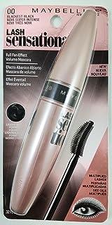 Maybelline New York Lash Sensational Mascara, Blackest Black 0.32 oz (Pack of 2)