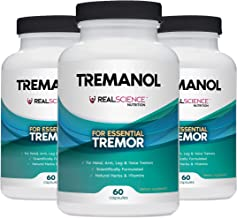 Tremanol – Pack of 3 - Natural Aid for Essential Tremor - Provides Relief for Shaky Hands, Arm, Leg, & Voice Tremors