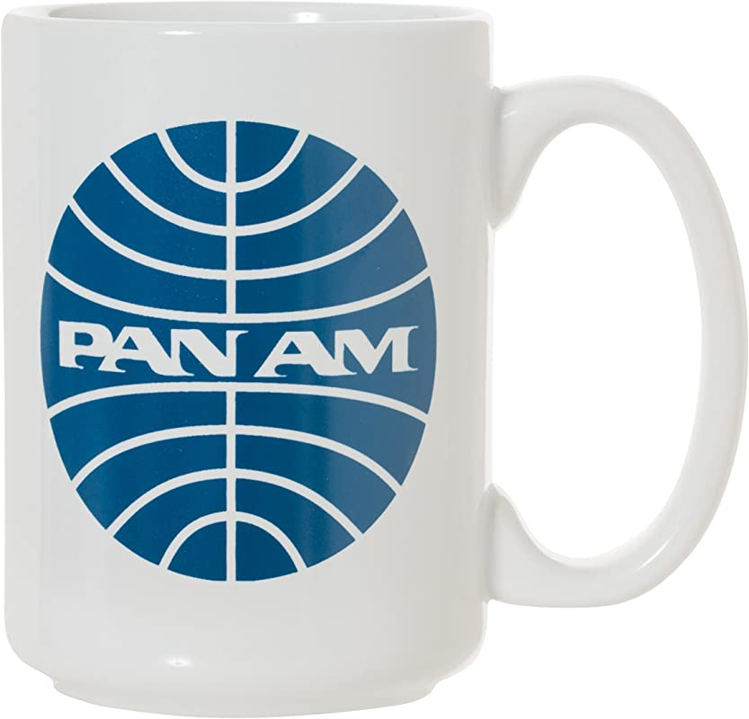 Pan Am Pan American Airlines Large 15 Oz Double Sided Coffee Tea Mug Pan Am