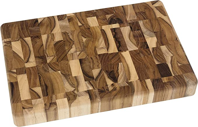 Lipper International 7218 Teak Wood End Grain Kitchen Chopping Block And Cutting Board Small 12 X 8 X 1 1 4 Amazon Ca Home Kitchen
