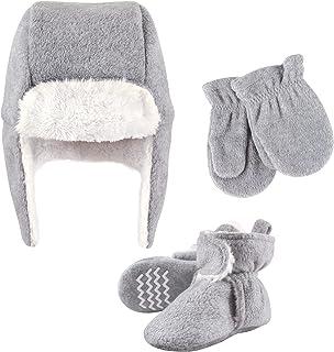 Hudson Baby Unisex czapka chwytakowa dla dzieci, zestaw rękawiczek i butów, szary wrzosowy, 12-18 miesięcy