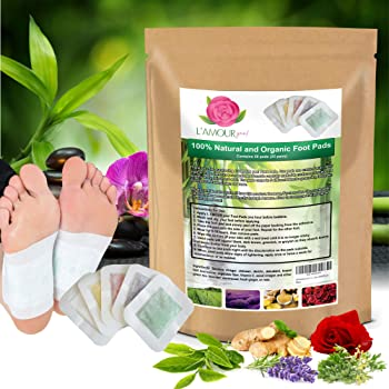 50 Premium 2-in-1 Foot Pads | Concentrated Formula | for Foot Care, Pain Relief, Relaxation, General Well-Being | 5 Special Blends | by L'AMOUR yes!
