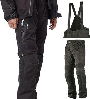 Motorradhose Standard und Kurzgrößen  Spider  Herren Sommer Winter Motorrad Textilhose mit Protektoren und Hosenträger   schwarz   Standardgröße   XL
