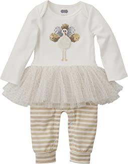 Mud Pie - Thanksgiving Turkey Tutu One-Piece (Infant)
