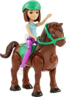 Barbie On The Go Brown Pony and Doll