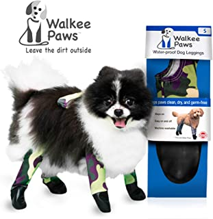 Walkee Paws Waterproof Dog Leggings - Keep Your Dog's Feet Clean and Dry Without The Hassle of Boots - Camoflauge