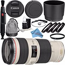 Canon EF 70-200mm f/4L IS USM Lens 1258B002 + 67mm Macro Close Up Kit + 67mm UV Filter + Lens Pen Cleaner + Fibercloth + Deluxe Cleaning Kit Bundle