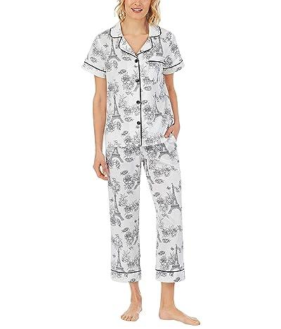 BedHead Pajamas Short Sleeve Cropped PJ Set (Woven Sateen)