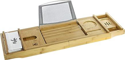 Rhinopoly Bathtub Caddy Tray with Bonus Wash Cloth
