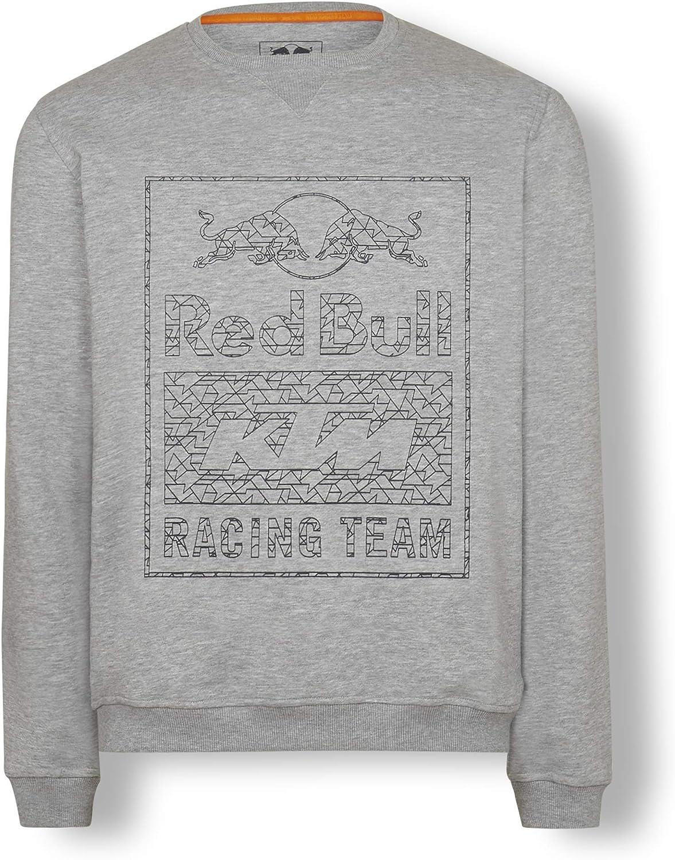 rot Bull KTM Wireframe Crewneck Sweater, grau Herren Sweatshirt, KTM Factory Racing Original Bekleidung & Merchandise