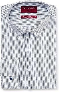 Van Heusen Men's Slim Fit Mini Foot Print Business Shirt