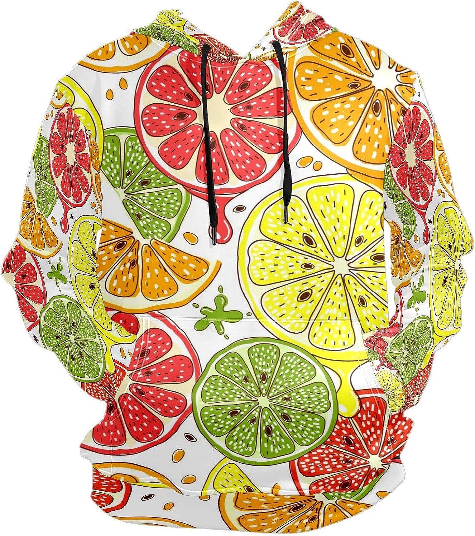 Citrus Fruits Orange Slice Doodle Mens Sport Hoodie Big and Tall Hoodies for Men Women Oversized Hooded Sweatshirt Hip Hop Pullover Hoodie Midweight Hood for Boys Girls
