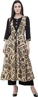 AnjuShree Choice Women Stitched Printed Embroidered Anarkali Cotton Kurti Kurta