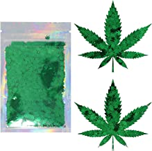 glitter pot leaf