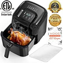 KOIOS 6.8-Quart Large Air Fryer oven/ Dehydrator(160 Recipes), 24 Presets, 1800-Watt , 4 Customized Functions, Air Fry, Roast, Reheat, Dehydrate, 2-Year Warranty, Oil-Free Cooker, ETL Certified.