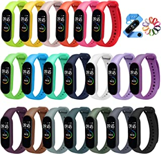 ivoler [20 pack] armband kompatibel med Xiaomi Mi Band 5, Soft Silicone Waterproof Wearable Breathable Watchbands Accessor...